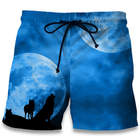 Image of Wolf Print 3D  Shorts