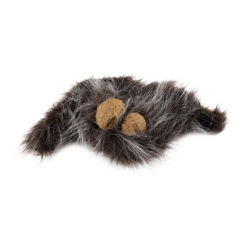 Image of Pet Cat Dog Emulation Lion Hair Mane Ears Head Cap Autumn Winter Dress Up Costume Muffler Scarf