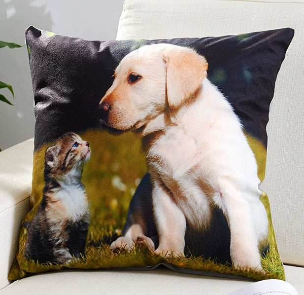 Animal 3D Design Horse Tiger for Sofa Throw Pillow