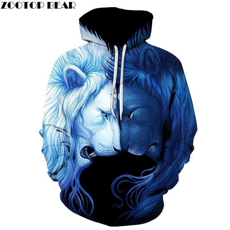 Day Night Lion 3D Sweatshrits hoodie