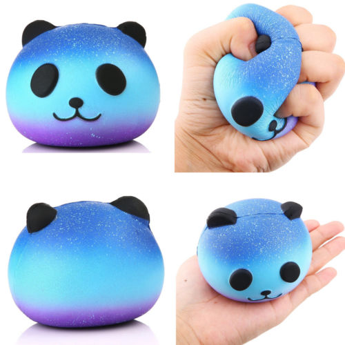 Cute Blue Panda Cream Scented Squishy
