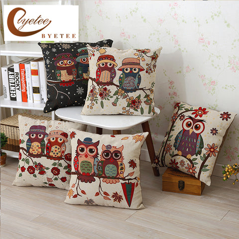 Image of Owl  Pillow Cover