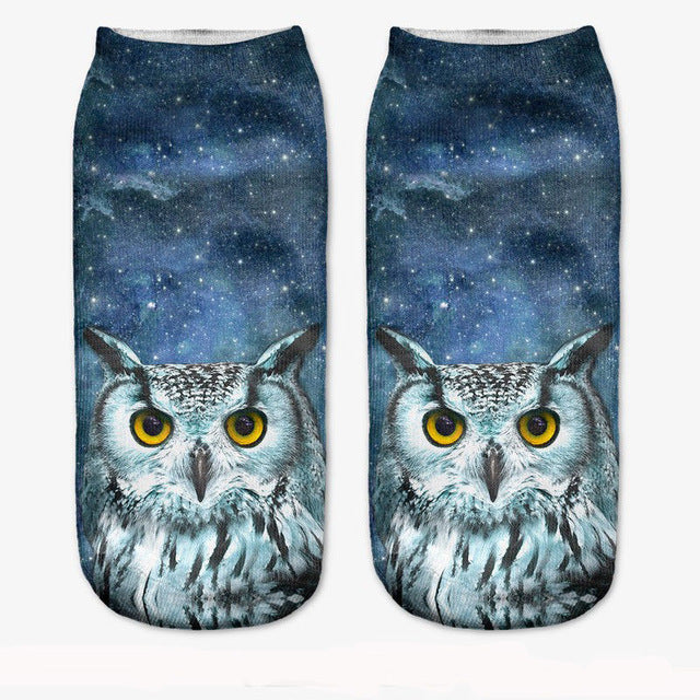 Multiple Colors Women Men Cotton Animal Socks