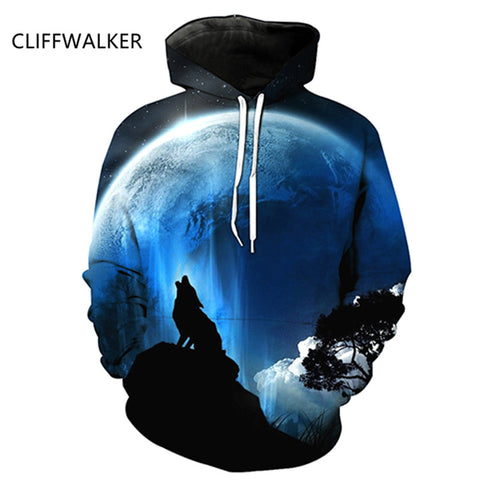 Image of New Wolf Printed 3D Hoodies