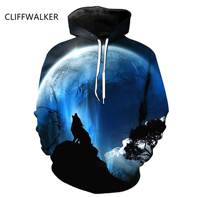 New Wolf Printed 3D Hoodies