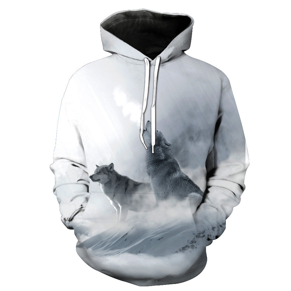 New Fashion Wolf 3D Hoodies