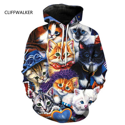 Image of New Hot  Cat 3D Hoodies