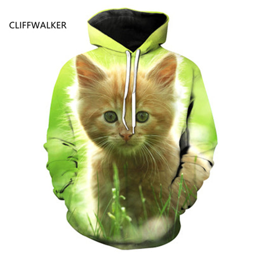 New Hot  Cat 3D Hoodies