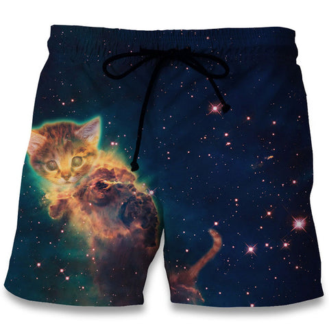 Image of Cat Planet Print 3D  Shorts