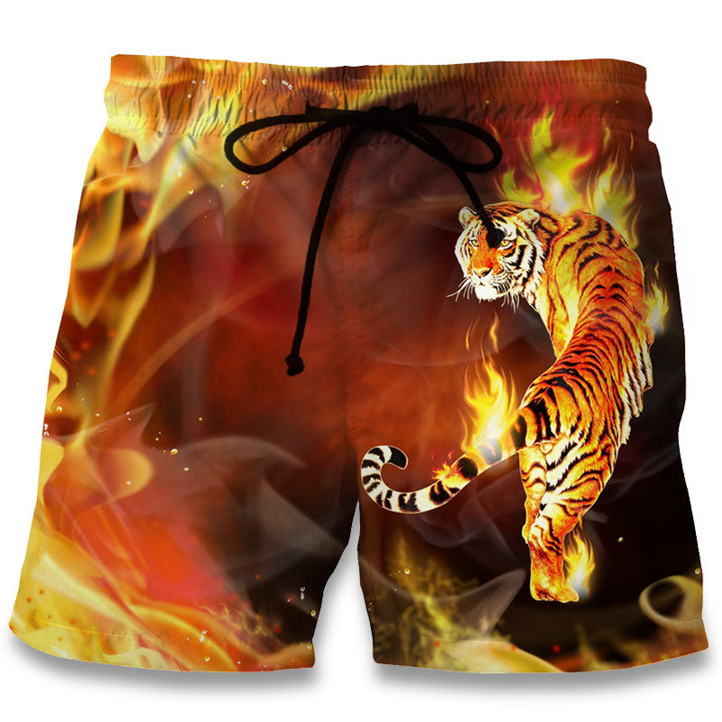 Flame Tiger 3D Shorts