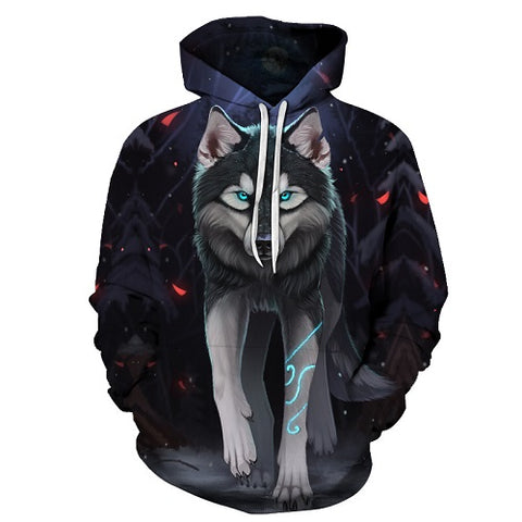 Image of Animal Wolf  3D Hoodie