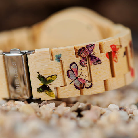 Image of Butterfly Wood Watch