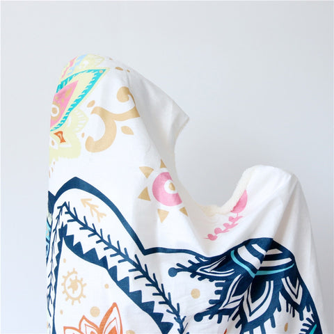 Mandala Boho Elephant Hooded Blanket