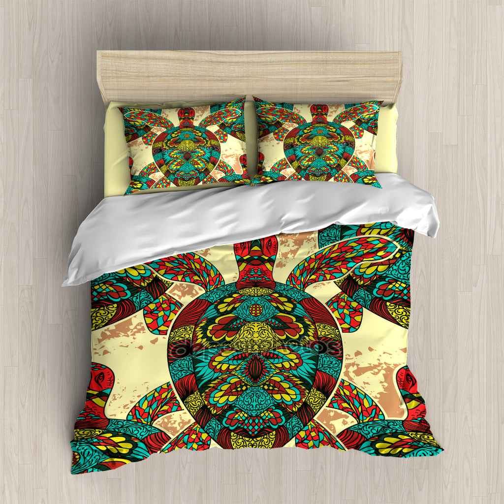 Colorful Sea Turtle Bedding