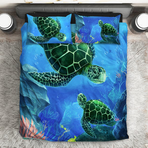 [B1004] Green Sea Turtle Bedding Set