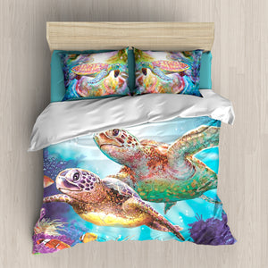 B1001 Turtle Colorful Bedding Set