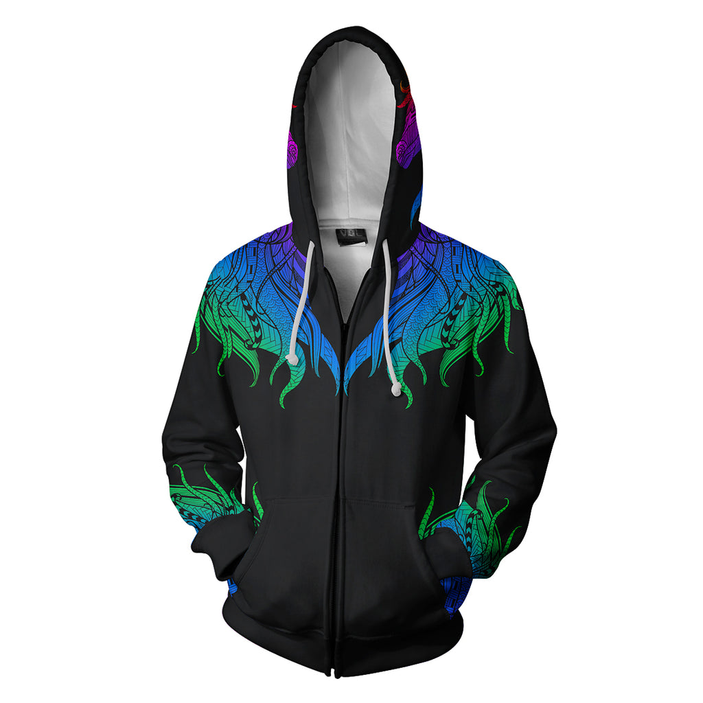 Colorful Unicorn  Zip Up Hoodie