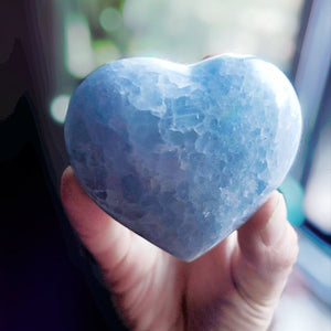 200g Blue Celestite Heart