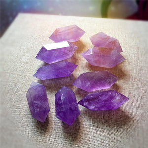 12 Pack Double Terminated Amethyst Points