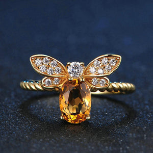 Flight of the Citrine Bee Ring