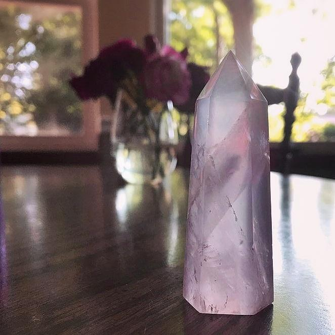Natural Rose Quartz Point