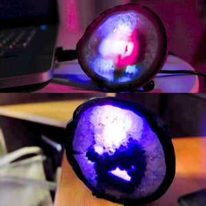 Glowing Agate Slice Night Light