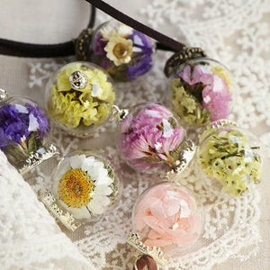 Forever Flowers -  Real Flower Pendant Collection