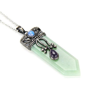 Crystal Sword Pendant Necklaces