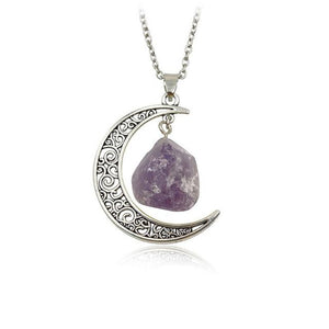 Crystal and Moon Necklaces