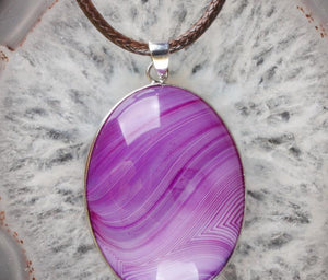 Purple Striped Onyx Pendant