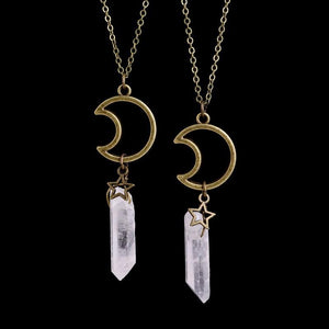 Star and Crescent Moon Crystal Necklace