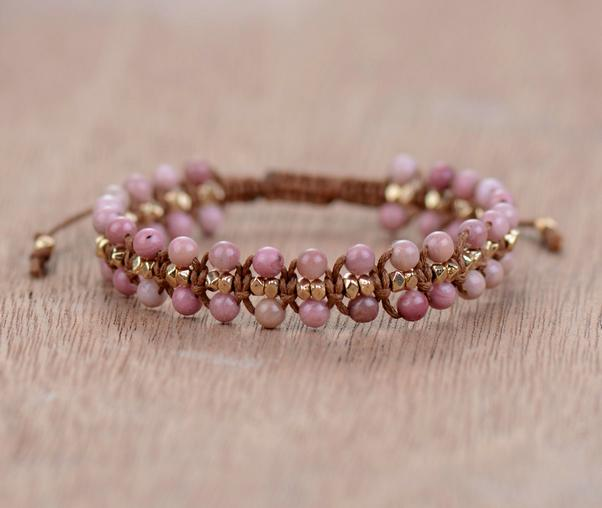 Warrior of Love Rhodonite Bracelet