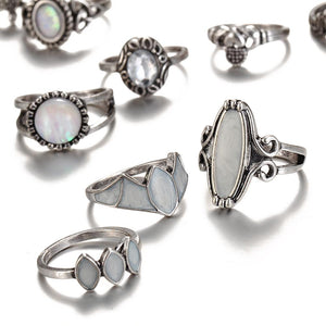 Fire & Ice - 12 pc Opal Ring Set