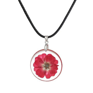 Real Beautifully Preserved Flower Pendant Necklace