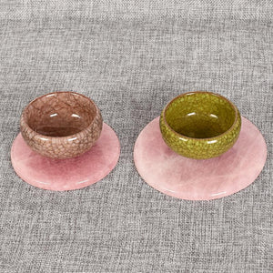 Natural Rose Quartz Coasters