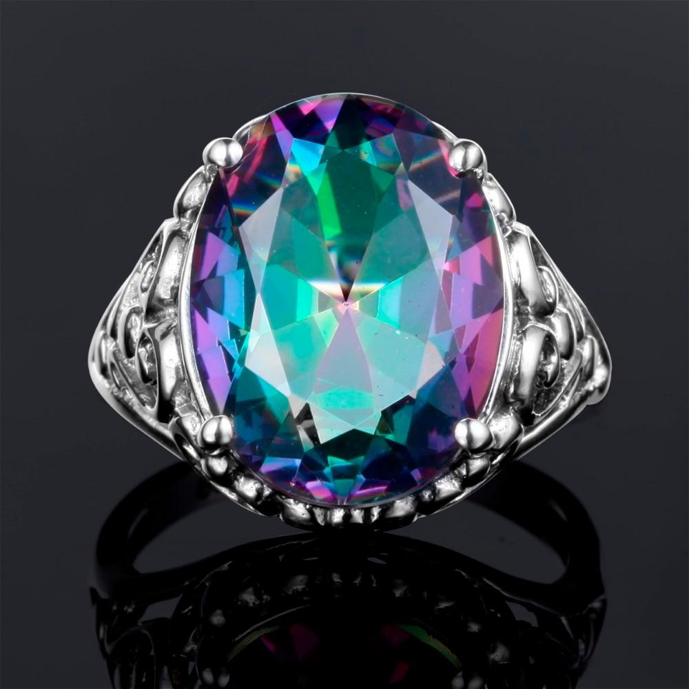 Mystic Fire Oval Ring