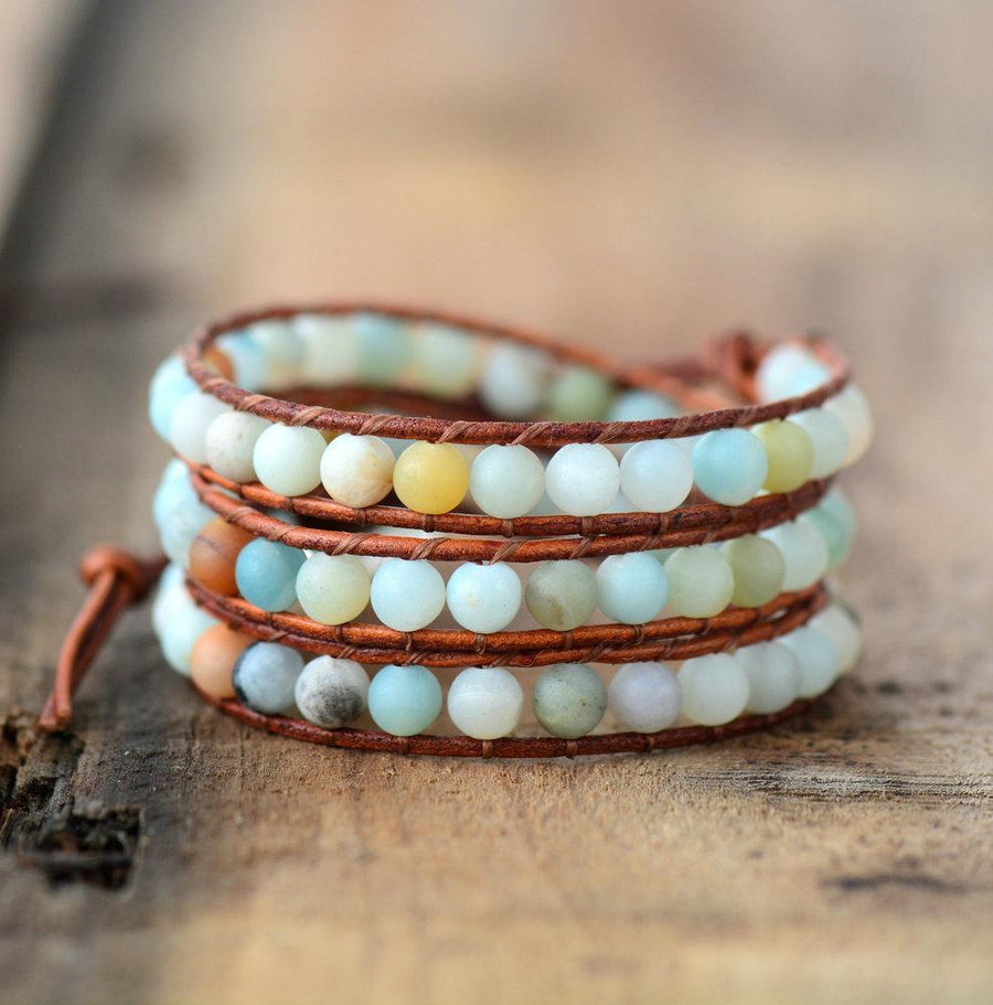 3 Stranded Amazonite Beaded Bracelet
