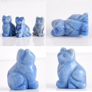 Carved Crystal Cats