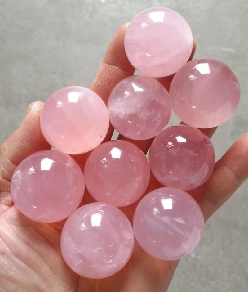 9 Pack Rose Quartz Spheres