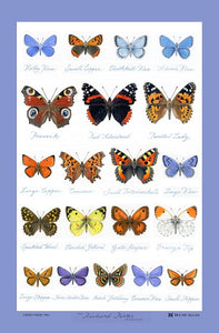 Glencoe Butterflies Linen Union Tea Towel