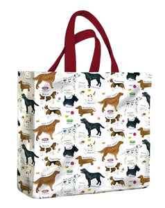 Medium Gusset Bag, Dog Breeds