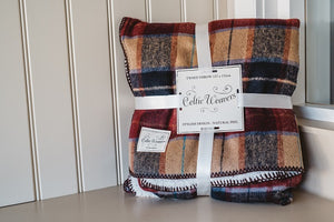 Red Tweed Blanket