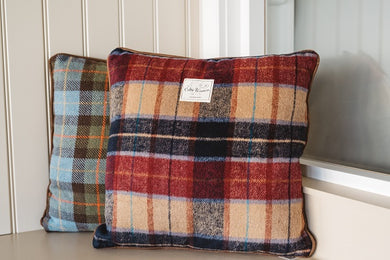 Tweed Cushion| Tweed Cushions| Red/Blue