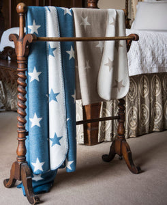 Bamboo Throw, Blue Star