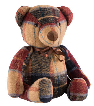 Tweed Teddy Door Stopper