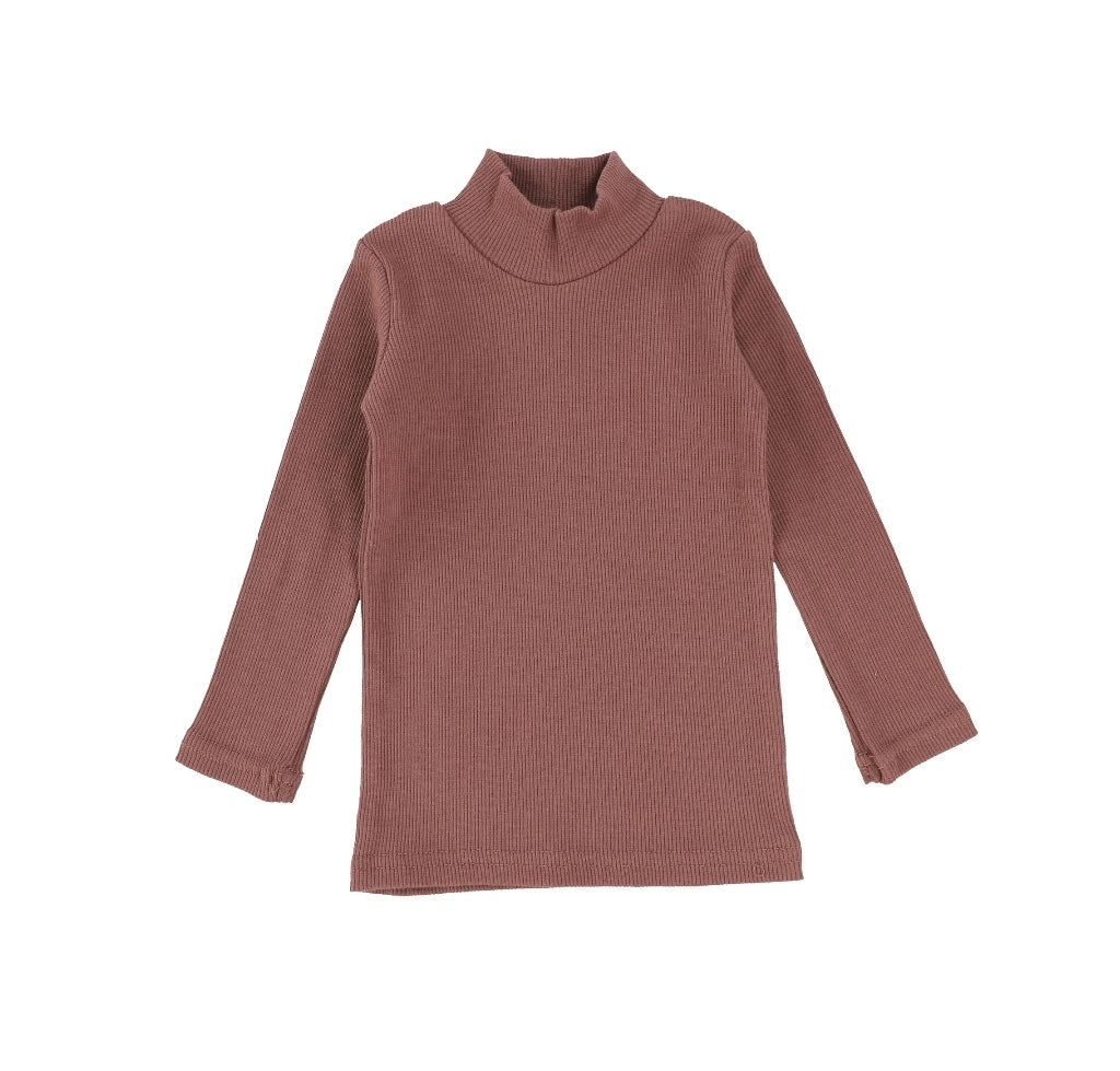 Rosewood Ribbed Turtleneck