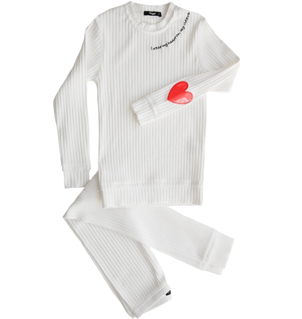 Heart On My Sleeve Pajamas-Girls
