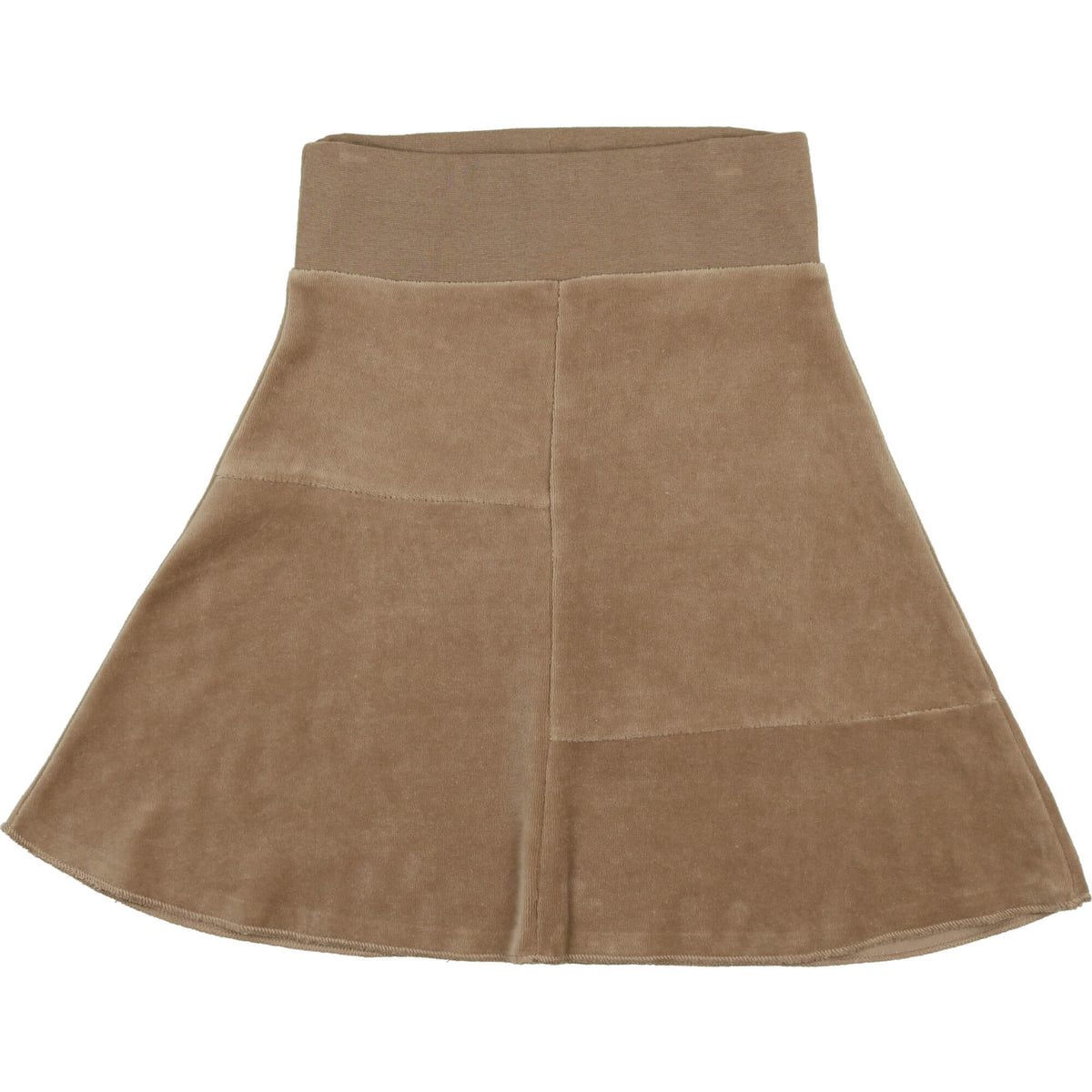 Taupe Velour Skirt