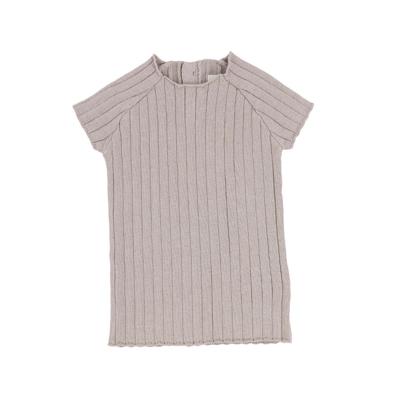 Taupe Short Sleeve Knit Sweater