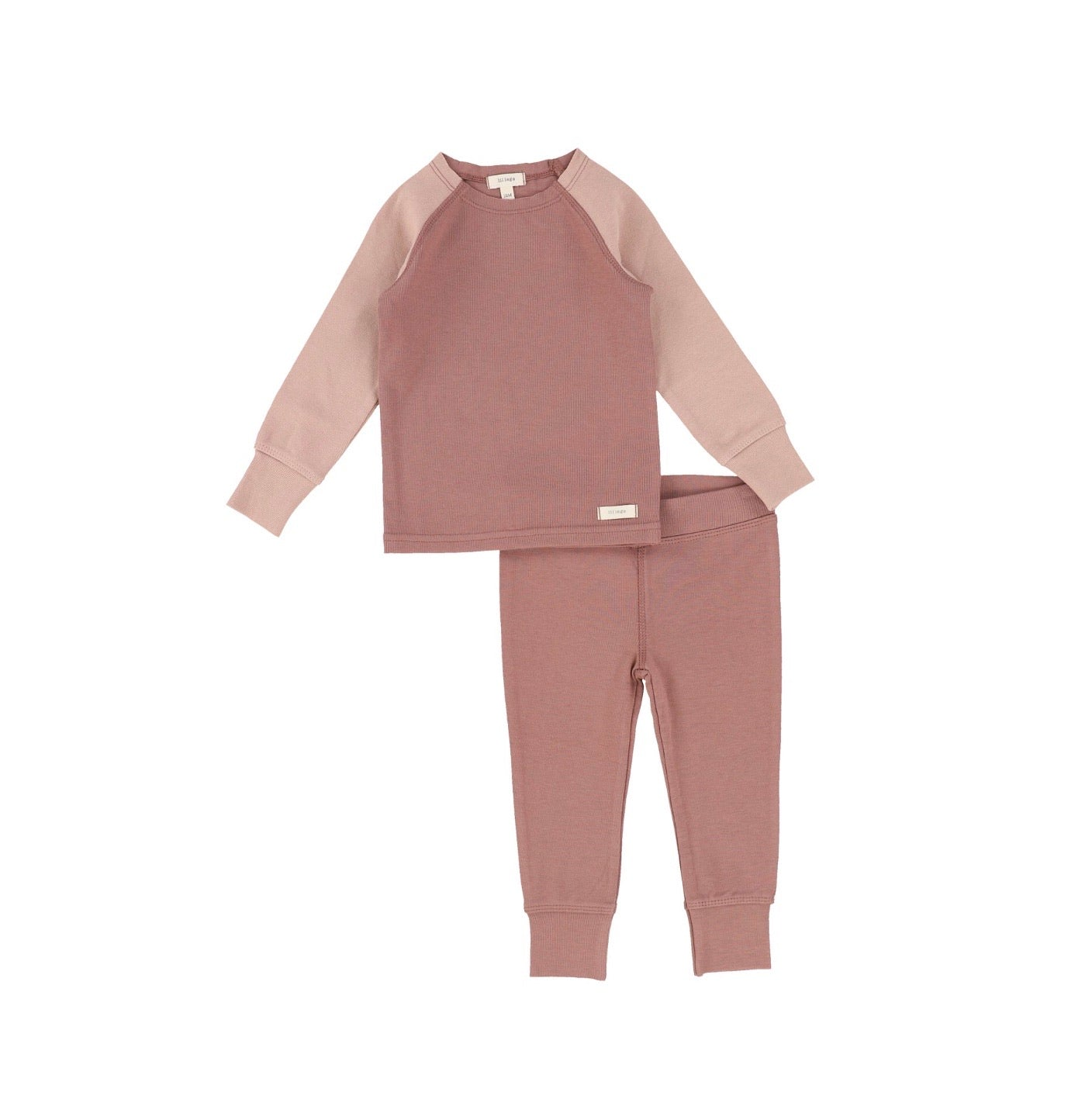 Pink Long Sleeve Raglan Pajamas